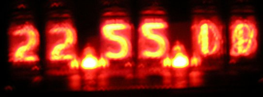 Nixie Clock, different camera settings