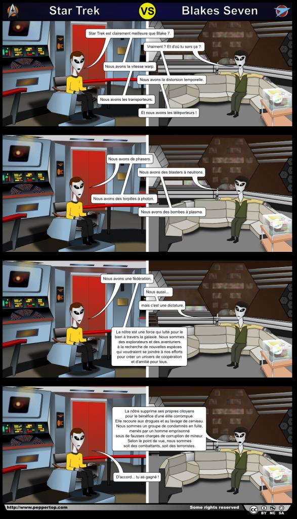 Star Trek contre Blakes Seven
