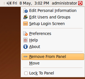 """Right click and select """"Remove From Panel"""""""