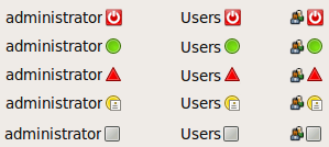 Your User Switcher applet could look like any of these
