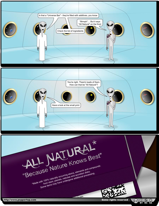 The All Natural* Universe Bar